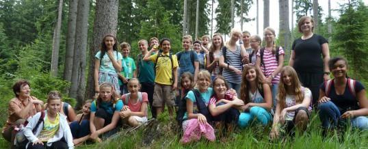 """Schuljahresabschluss der Klasse 6c im Naturfreundehaus """"Rote Grube"""""""