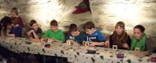 Weihnachtsfeier der Klasse 5a im Schloss Schwarzenberg