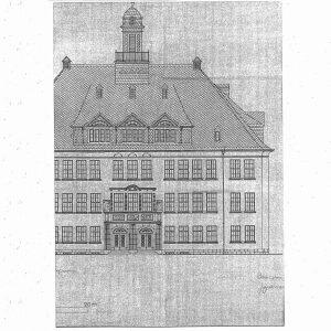 """Aus den Bauplänen: """"Realschule Schwarzenberg"""""""