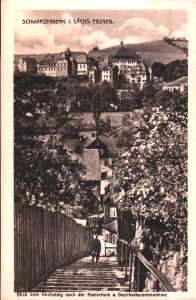 Postkarte mit Blick zur Realschule.