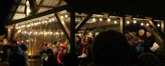 Unser Chor auf dem Weihnachtsmarkt in Schwarzenberg