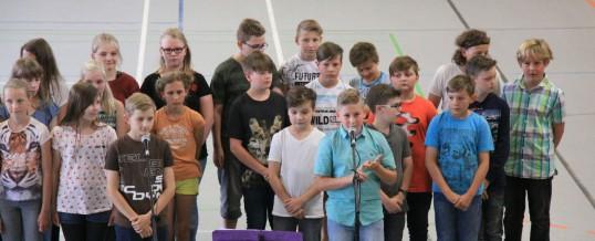 """Begrüßung der """"Neuen Klassen 5"""""""
